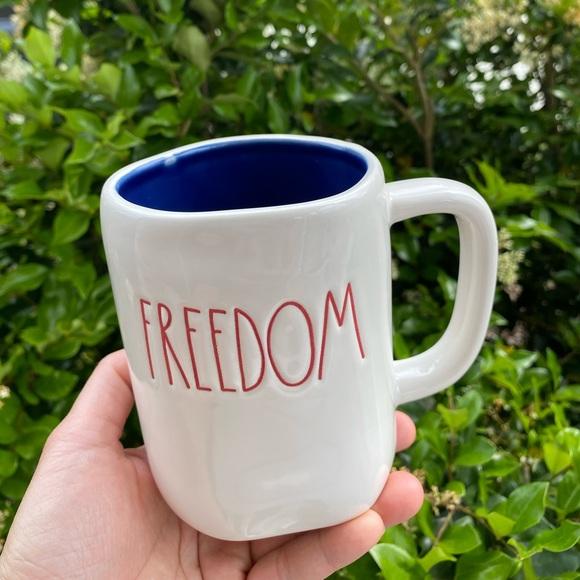 rae dunn freedom mug